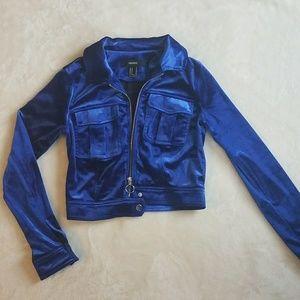 Blue Velvet Forever 21 Jacket